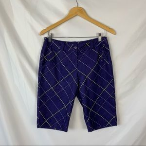 Nike Golf Dri-Fit Purple Bermuda Shorts Sz 6